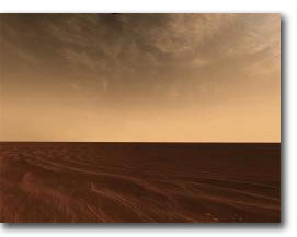 Clouds and sand on the horizon of Mars (2006)