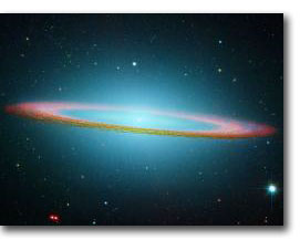 M104 Galaxy in infrared light